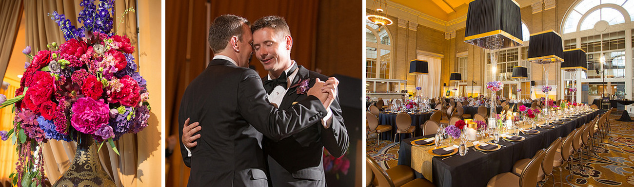 Same-Sex Marriage wedding flowers wedding flowers first dance wedding reception table ricardo tomas weddings event planner