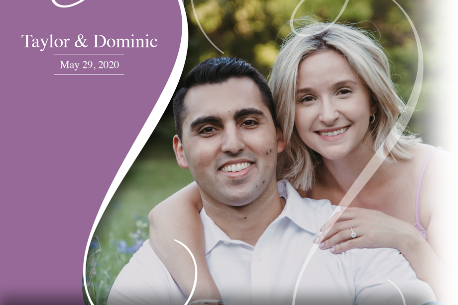 Nearlywed Taylor & Dominic - May 29, 2020 Wedding ricardo tomas weddings event planner